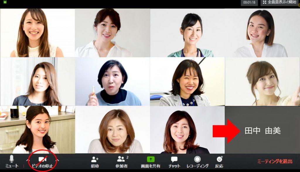 zoomビデオミュート画像